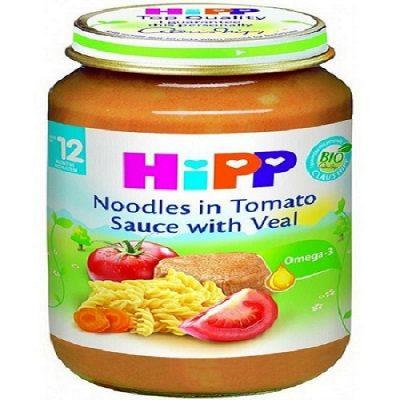 غذای کودک( نودل با سس گوجه فرنگی و گوشت گوساله) هیپHiPP