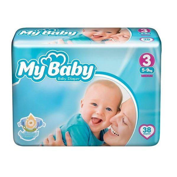 پوشک مای بیبی مدل Premium سایز 3 (38 عددی) My baby