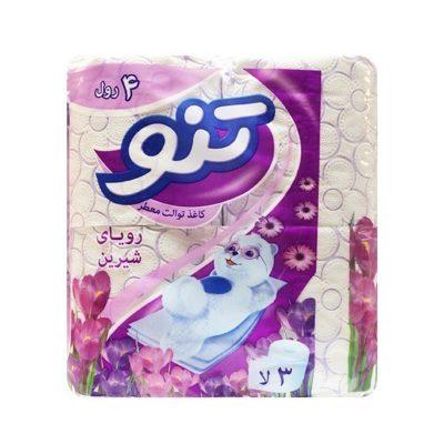 دستمال توالت معطر تنو رویای شیرین سه لایه (4 رول)