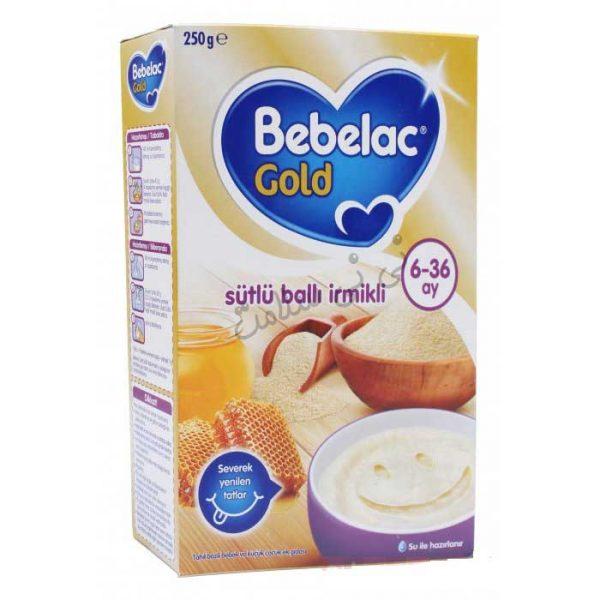 سرلاک شیر،سمولینا و عسل ببلاک گلد bebelac gold