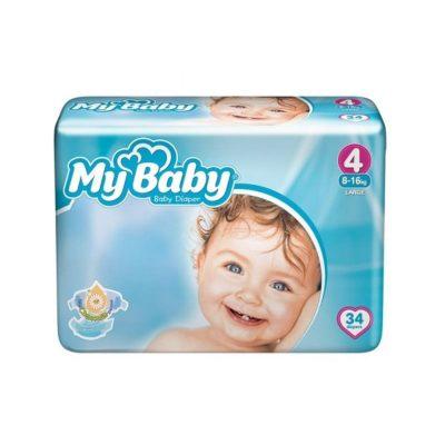 پوشک مای بیبی مدل Premium سایز 4 (34 عددی) My baby