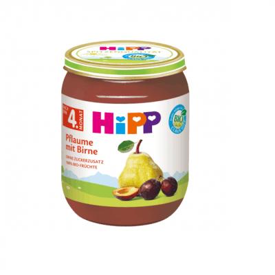 پوره گلابی و آلو سیاه هیپ آلمانی HIPP