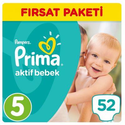 پوشک پریما پمپرز ترک اونتاژ سایز5 (52تایی) همراه هدیه Prima Pampers
