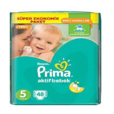 پوشک پریما پمپرز ترک سایز 5(48تایی) Prima Pampers