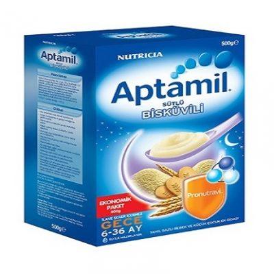 مکمل غذایی فرنی برنج و بیسکویت مخصوص شب آپتامیل aptamil
