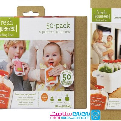 کیسه غذا خوری و محفظه نگهدارنده 12 عددی اینفانتینو INFANTINO