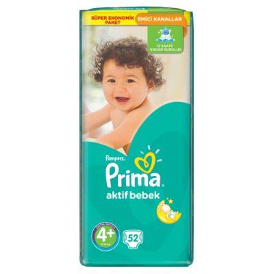 پوشک پریما پمپرز ترک سایز +4اونتاژ (52 عددی) pampers prima