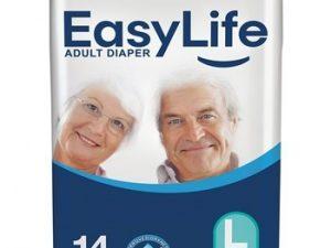 پوشک محافظ بزرگسال با پودر جاذب ضد باکتری سایز بزرگ 14 عددی ایزی لایف  Easy Life