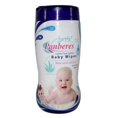 دستمال مرطوب پاک کننده کودک استوانه ای پنبه ریز panberes
