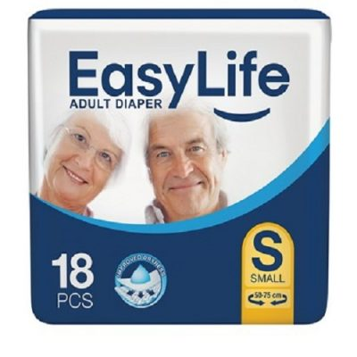 پوشک محافظ بزرگسال با پودر جاذب ضد باکتری سایز کوچک 18 عددی ایزی لایف Easy Life