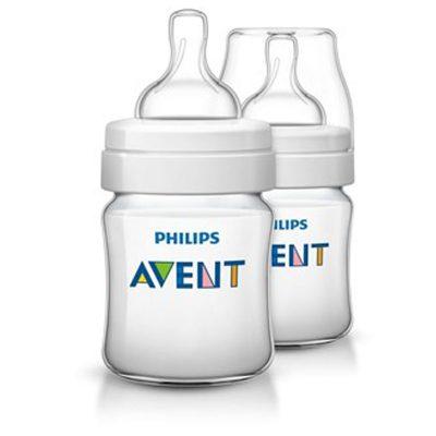 شیشه شیر طبیعی ۱۲۵ میلی لیتر دوتایی اونت Avent