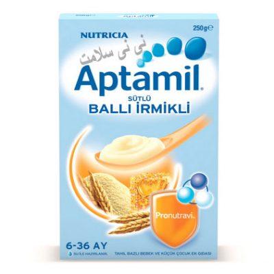 سرلاک و مکمل غذایی شیر،آرد سمولینا و عسل آپتامیل Aptamil