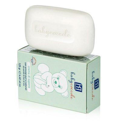 صابون حمام بچه کرمی بی بی کوکول babycoccole-soap