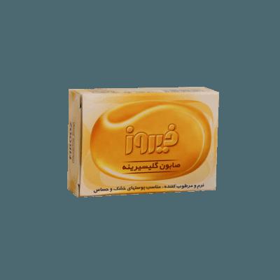 صابون گلیسیرینه فیروز مناسب پوستهای خشک و حساس firooz