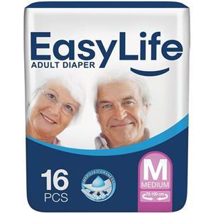 پوشک بزرگسال با پودر جاذب ضد باکتری سایز متوسط ۱۶ عددی ایزی لایف  Easy Life