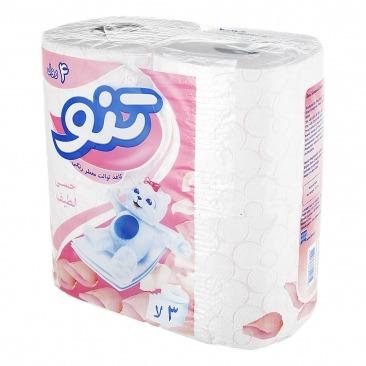 دستمال توالت معطر تنو حسی لطیف سه لایه (4 رول)