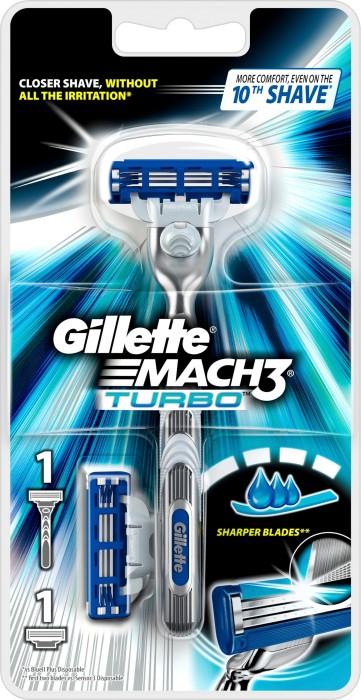 خود تراش ژيلت مدل Mach 3 turbo 2 up