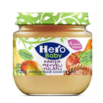 پوره میوه موز،انبه،انگور سیب و هویج هیروبی بی hero baby