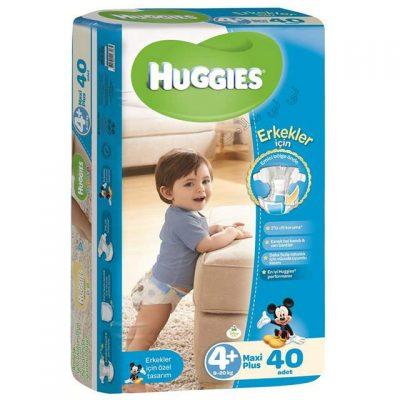 پوشک بچه هاگیز سایز 4+Huggies پسرانه