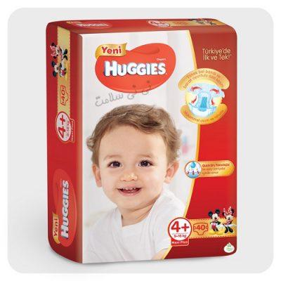 پوشک هاگیز سایز 4+ huggies