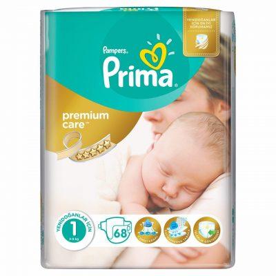 پوشک پریما پمپرز ضد حساسیت لهستانی سایز 1 prima pampers