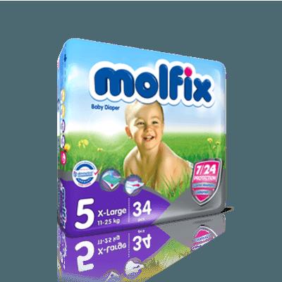 پوشک دوقلو مولفيکس molfix سايز 5