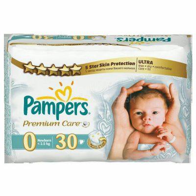 پوشک بچه پریما پمپرز سفید (pampers prima sensitiv ) ضد حساسیت لهستانی سایز 0