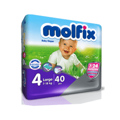 پوشک دوقلو مولفيکس molfix سايز 4