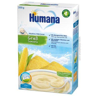 سرلاک آرد سمولینا و ذرت و شیر هومانا