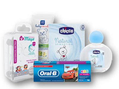 مسواک، خمیر دندان کودکان و ادکلن کودک