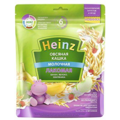 سرلاک توت فرنگی موز سیب جو دو سر با شیر هاینز Heinz